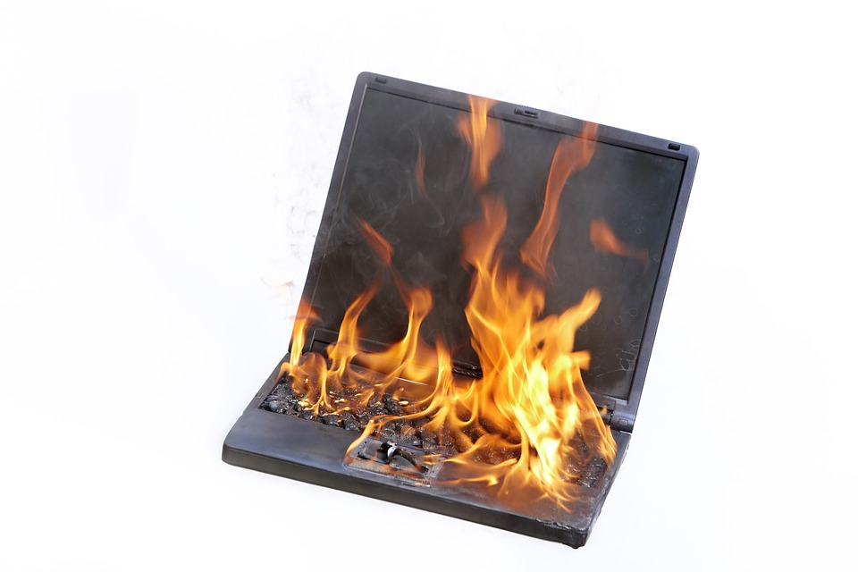 Source: https://www.maxpixel.net/Fire-Stress-Support-Burning-Copmuter-Laptop-1895382